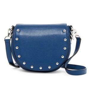 🆕 Rebecca Minkoff blue studded leather saddle bag